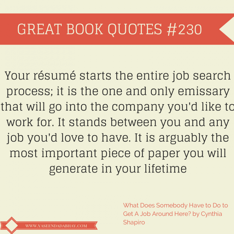 Your Resume Is The most important Document You Will Generate