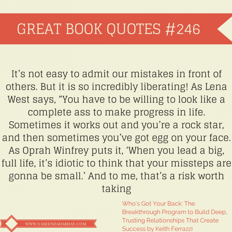 Admit to Mistakes