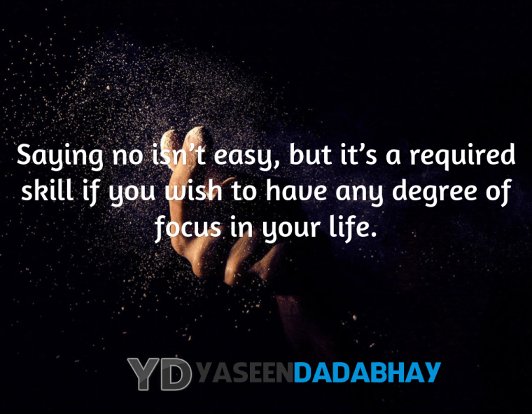 Saying No Isnt Easy