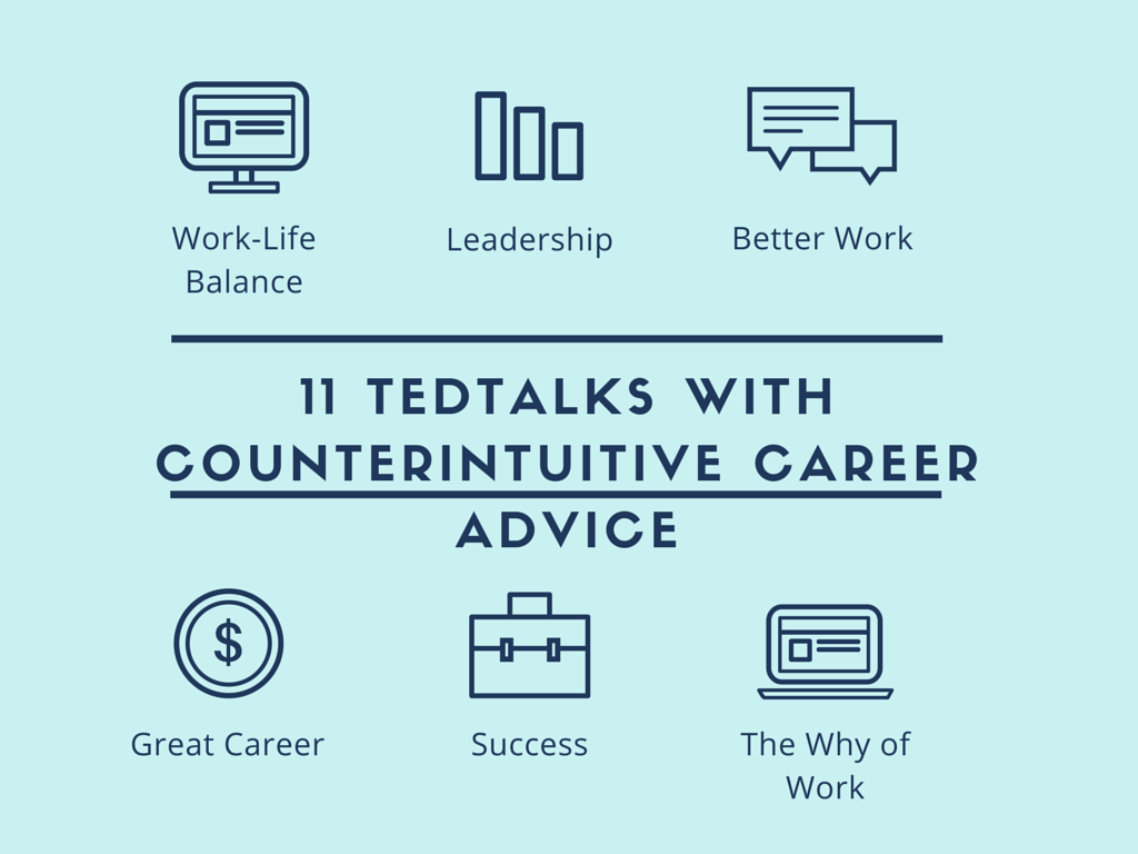 11 TEDTalks With Counterintuitive Career Advice :