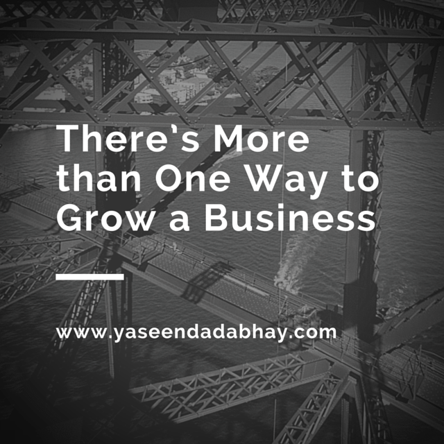 There's More than One Way to Grow a Business